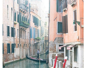 Fine Art Photography, Travel Photography, Venice, Italy, Pastels, 8x8 print