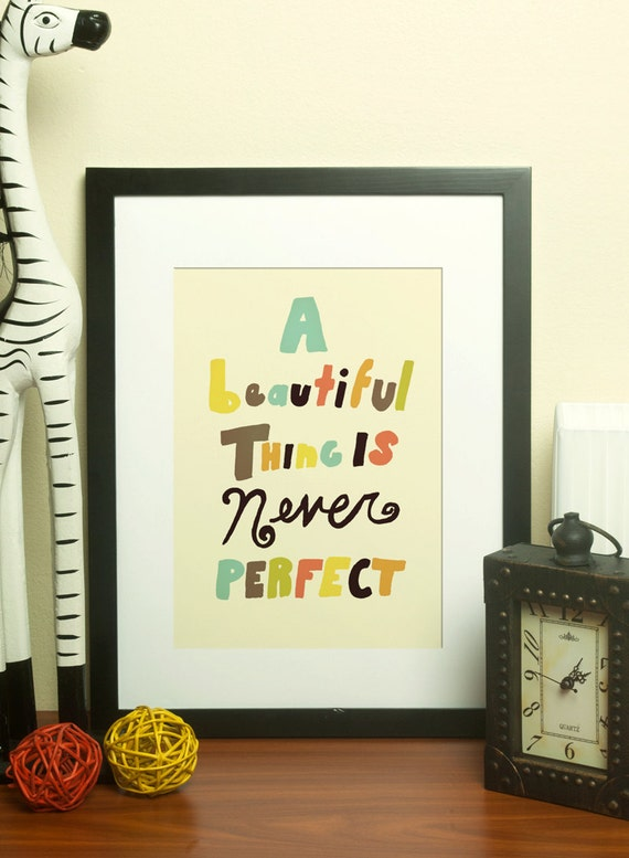 A Beautiful Thing Freehand // Typographic Print, Illustration, Hand Lettering, Digital Print, Giclee, Inspirational, Romantic, Quotes