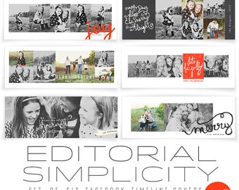 INSTANT DOWNLOAD Editorial Simplicity FB Timeline Covers vol 3