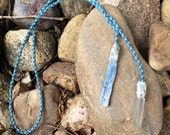 Kyanite and Quartz crystal necklace