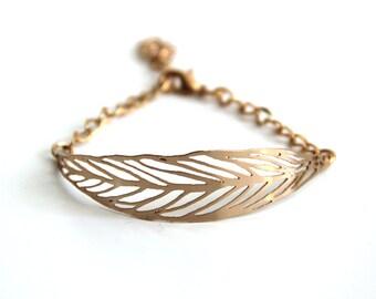 dainty bracelet ,rose gold bracelet ,nature leaf bracelet ,lace cuff bracelet, delicate gold bracelet