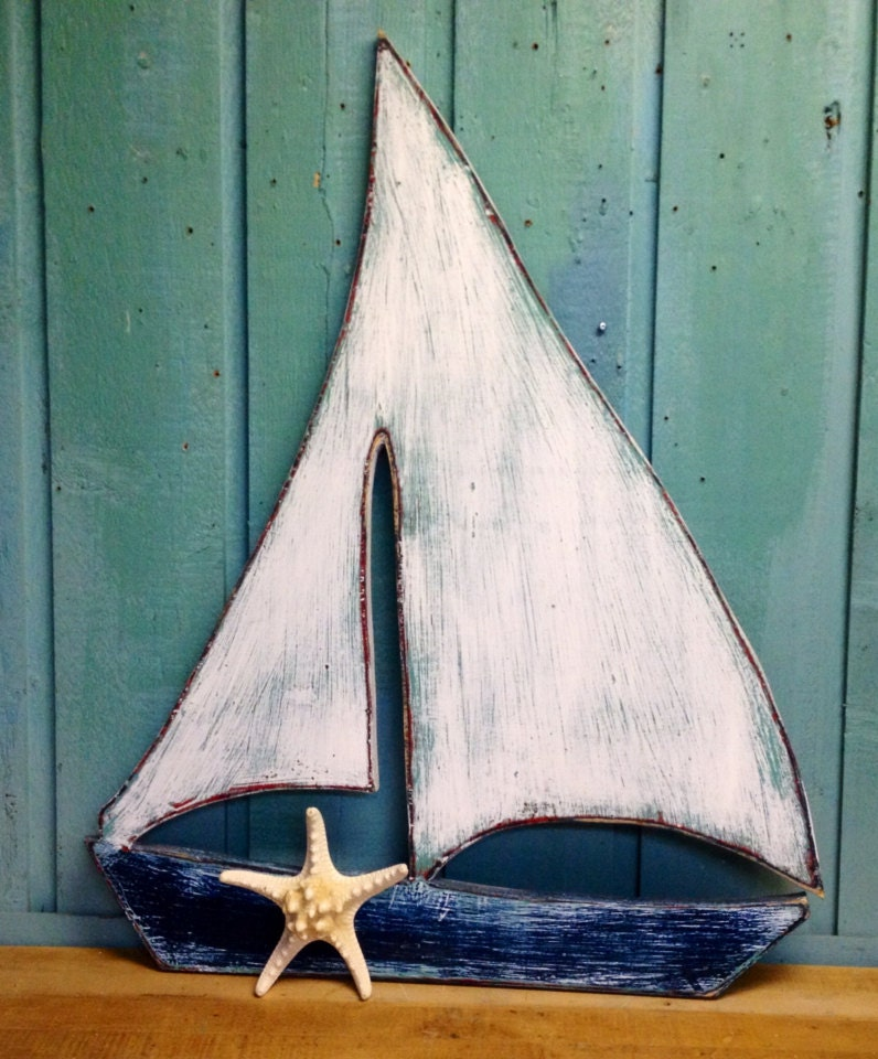 Boat Home Decor: Sailboat Sailing Ship Boat Sign Wall Art Beach House Decor By