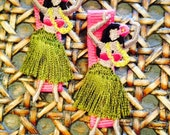 Hula girl hair clip, Hawaiian hair clip, Hawaii hair clips
