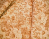 vintage cotton floral  calico fabric  pinky tea rose ,sandlewood color  by Marcus Bros,