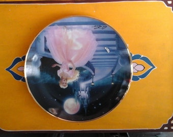 Fairytale Magic Cinderella and Her Actual Glass Slipper Behind Her Collectible Plate