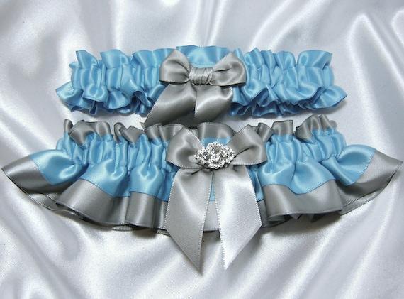Malibu Turquoise Wedding Garter Set By YouNiqueGarters On Etsy