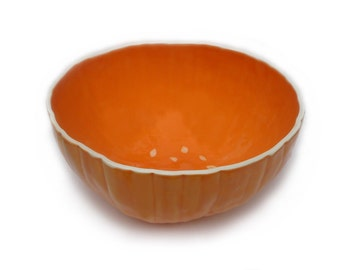 Large Pumpkin Serving Bowl