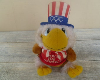 "Vintage  1984 Olympics  ""Sam the Eagle"" Plush"