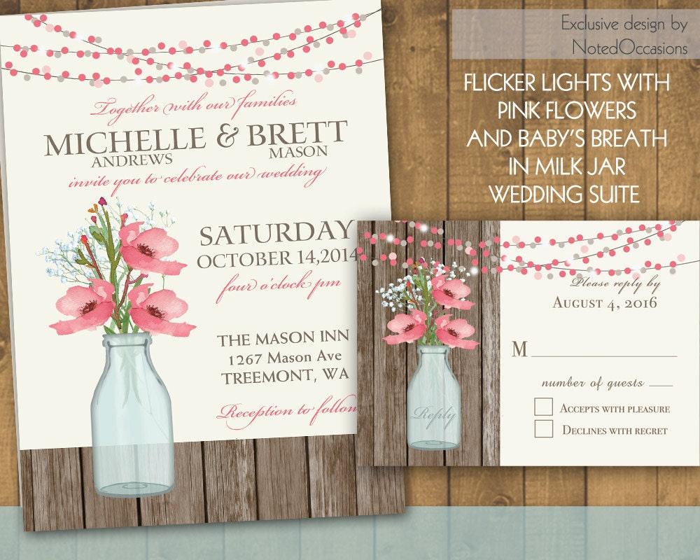 Cottage Mason Jar Wedding Invitation: 301 Moved Permanently