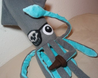 Pirate Accessory - Skull Eye Patch and Peg Leg Boot for Small Squids