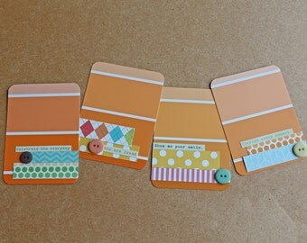"Handmade ""Sentiments"" Embellished Project Life Journaling Cards"