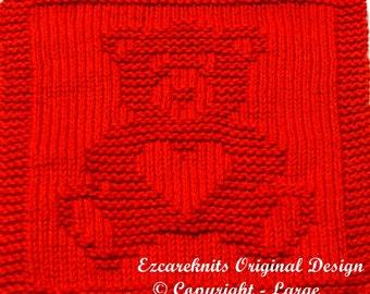 Knitting  Cloth Pattern  -  SWEETHEART BEAR - PDF