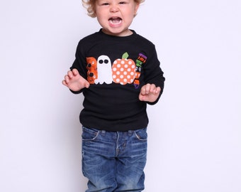 Halloween Shirt - Boo Shirt -Choose Shirt Color and Sleeve Length