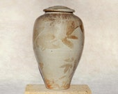 Wood Fired Jar, 11.5 in. tall with Organic slip detail, food safe storage
