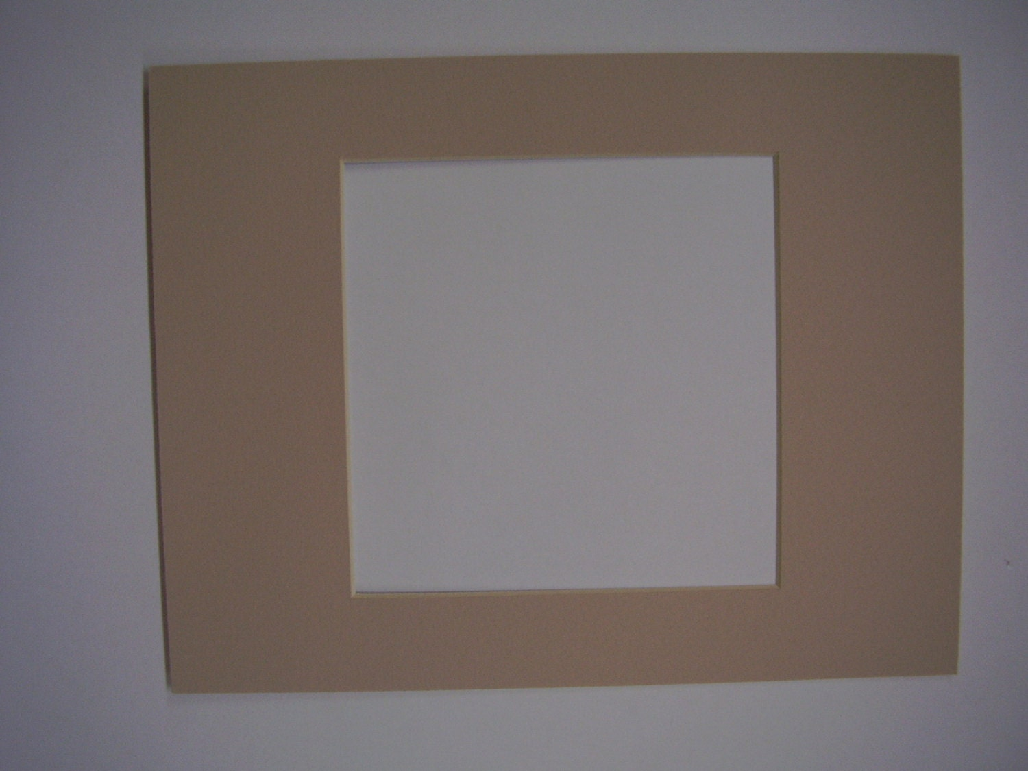 picture frame mat custom cut for 8x10 for 6x8 photo tan. Black Bedroom Furniture Sets. Home Design Ideas