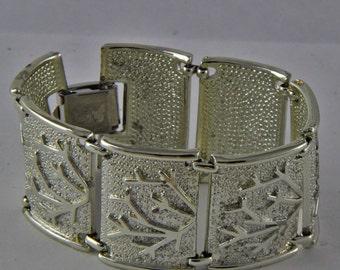 Vintage Silvertone Coro Winter Bracelet Coro Pegasus Bare Trees