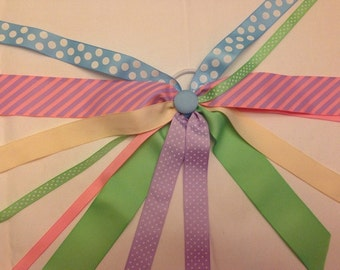 CLEARANCE!!! One of a Kind Ponytail Streamer in PReTTY PASTELS