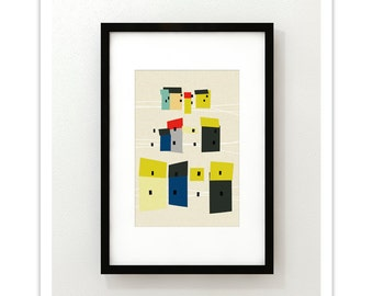 HOME no.11 - Giclee Print - Mid Century Contemporary Modern Abstract Modernist Art