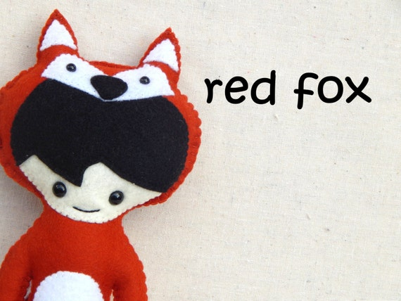 Red Fox Woodland Pals Plush Doll