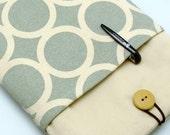 READY to ship - BIG Sale - iPad mini retina sleeve, kindle, with a front pocket, padded  - Circle (b) (K152)