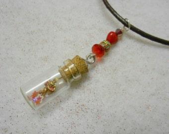 Valentine Cupid Mini Bottle Pendant
