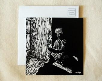 5x5 Prayer Bead Light Postcard ON SALE