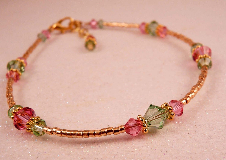 Ankle Bracelet Swarovski Crystal Anklet Crystal Ankle Bracelet