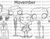 INSTANT DOWNLOAD *special price* Movember set