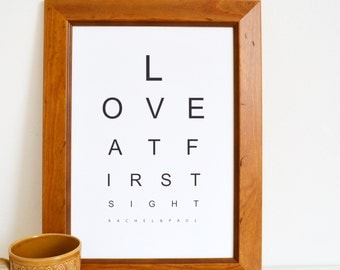 Personalised love at first sight print