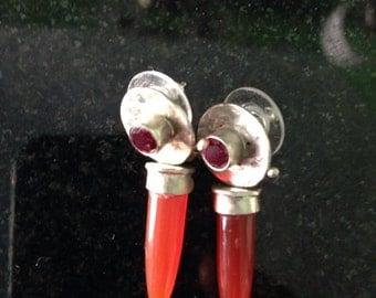 Colorful bullet earrings