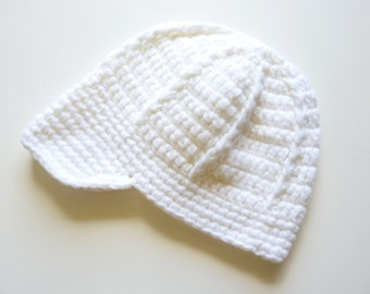 All White Newsboy Hat
