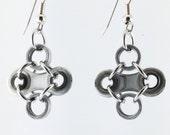 Bike chain earrings diamond shaped cycling jewelry