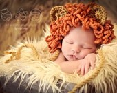 Newborn Baby Boy Photo Prop Lion Hat