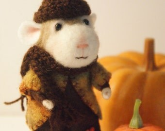 Needle Felted Mouse Fall Mouse Wool Mouse Needlefelted Mouse Mice Autumn