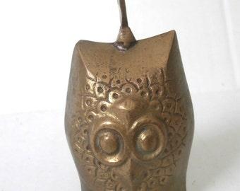 Brass Owl Temple Bell