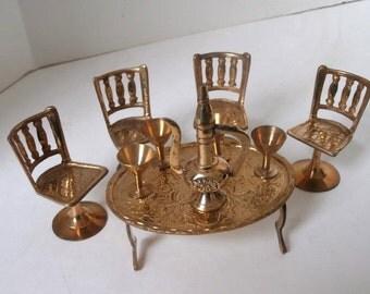 Brass Doll House Furniture India Circa 1970s
