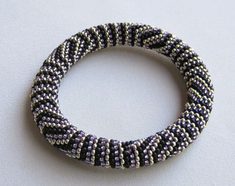 "Bead Crochet Pattern: The Pharoahs Exquisite Madness ""Mini"" Bead Crochet Bangle Pattern"