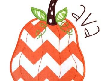 Funky Pumpkin Applique Design
