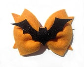 Sparkly Bat Felt Bow || Halloween 2014