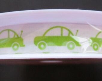 Riley Blake Designs Cotton Tape Ribbon - Cars Green 25 yards