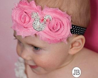 Minnie Mouse Headband,Mickey headband,Baby Headbands, Newborn Headband, girls headbands,Minnie Headband,Infant Headband, Baby Hairbows.#32