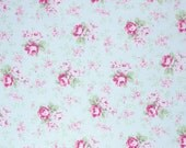 Washed Roses in Blue (pwtw091) - SLIPPER ROSES by Tanya Whelan - Free Spirit Fabric - 1 yard