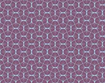 Empire Weave in Amethyst  (JD54) - Joel Dewberry Fabric HEIRLOOM for Free Spirit - By the Yard