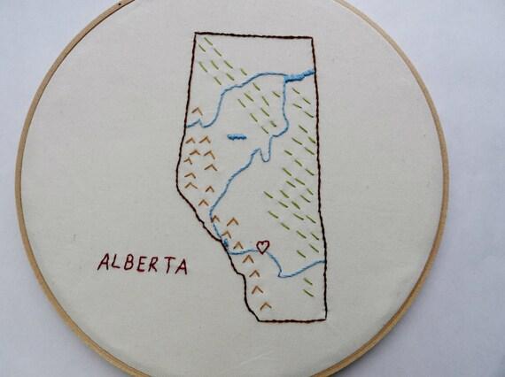 Items similar to alberta canada map wall art inch hoop