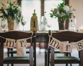 Mr. and Mrs. Signs / Wedding Garlands and Banner / Wedding Sign / Wedding Decor / Brown and Green