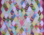 Twin Size Quilt, Marquee Diamonds, Extra Long Quilt