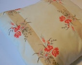 Quilted Floral Pillow- Floral Throw Pillow- Bed Pillows