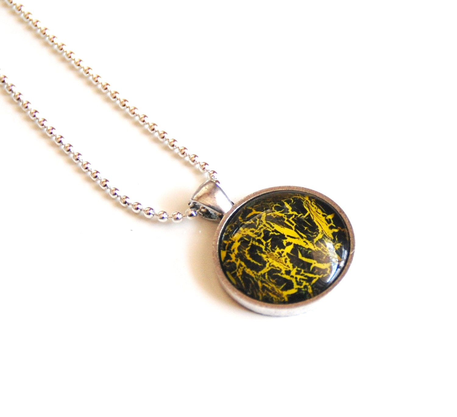 Nail Polish Jewelry-mother's Day Necklace Yellow And
