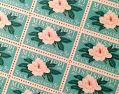 Set of 10 Mississippi Magnolia stamp. 5c unused postage stamp from 1967