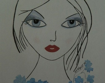Mixed Media Artwork - Sumi-e Ink, Watercolour and Mixed Cosmetics